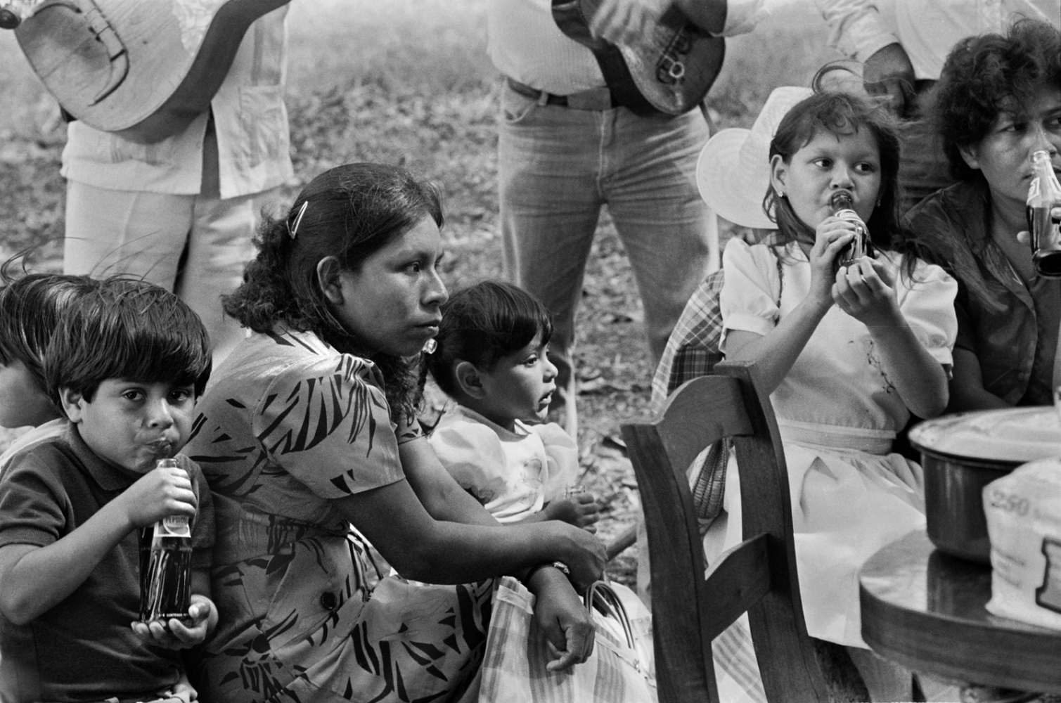 Not that Mexicans feast every day, but they do like to celebrate and make music every chance they get. Rancho Bejuco, Ozuluama, Ver, 1979 ©Sylvia de Swaan
