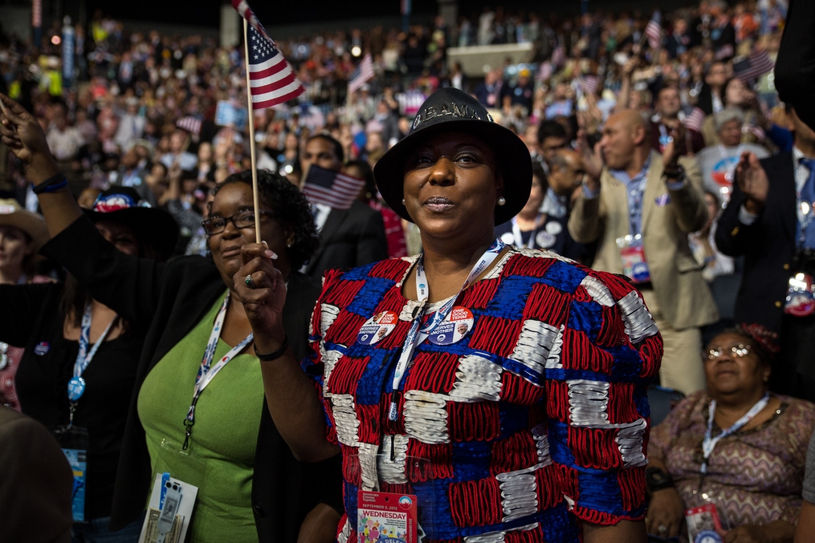Patriotic fashion is in at the Democratic National Convention (DNC).