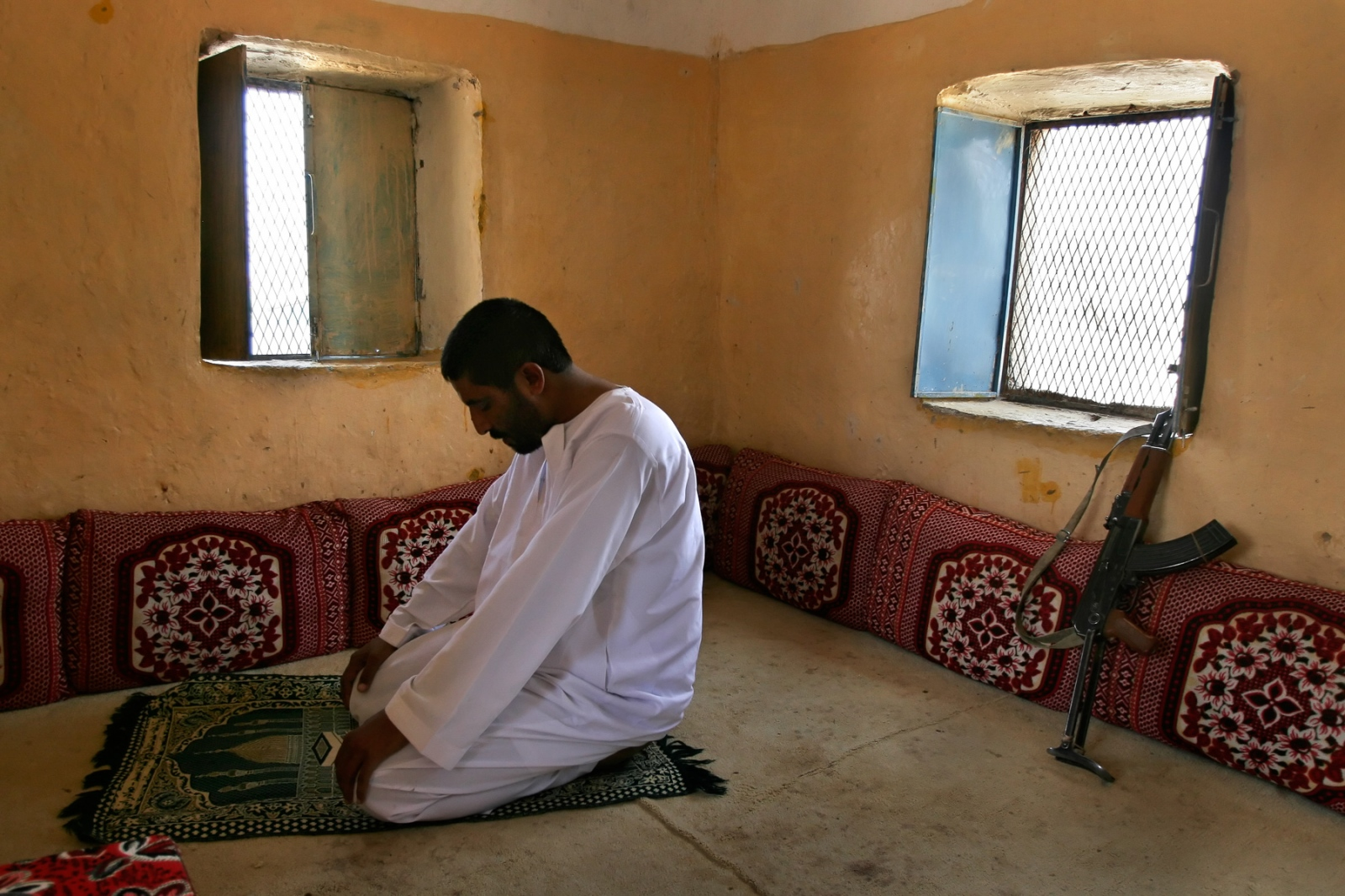 """In Al Jawf, Yemen, near the border of Saudi Arabia, Sheik Rabea al Okaimi controls a vast tribal area filled with people who are poor and uneducated, and who exist beyond government control. They are thought to be anti-American and sympathetic to al Queda, which Rabea disputes, """"We don't have terror in our area,"""" he says. """"What we have are tribal wars, poverty, and illiteracy,."""" Seeking a way to improve life in Al Jawf, Rabea sought help from an American NGO, but the obstacles he faces have so far proven to much to be overcome."""