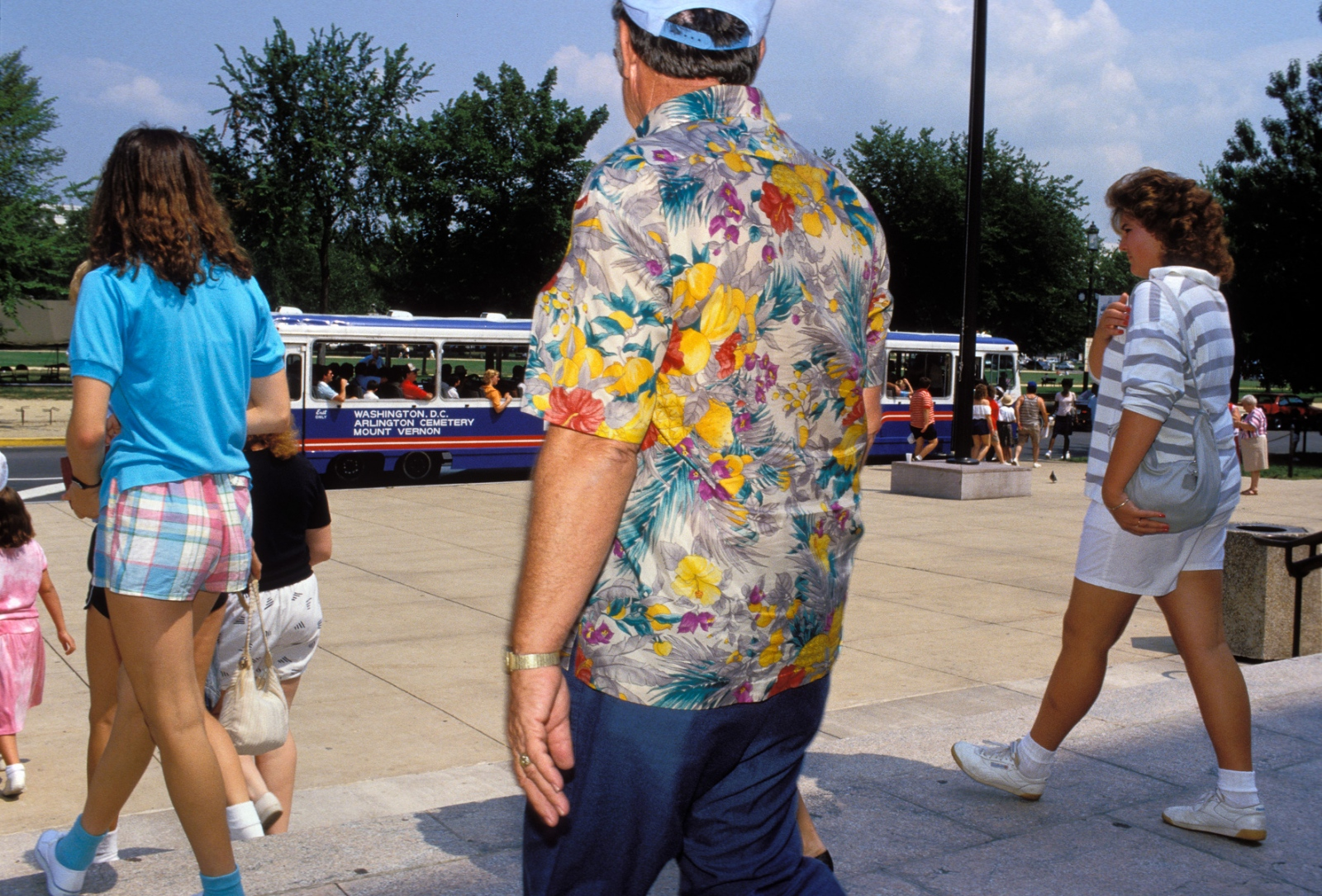 Tourists have their own fashion look and style.