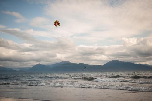 Kite boarding off Homer Spit in Kachemak Bay Homer, AK