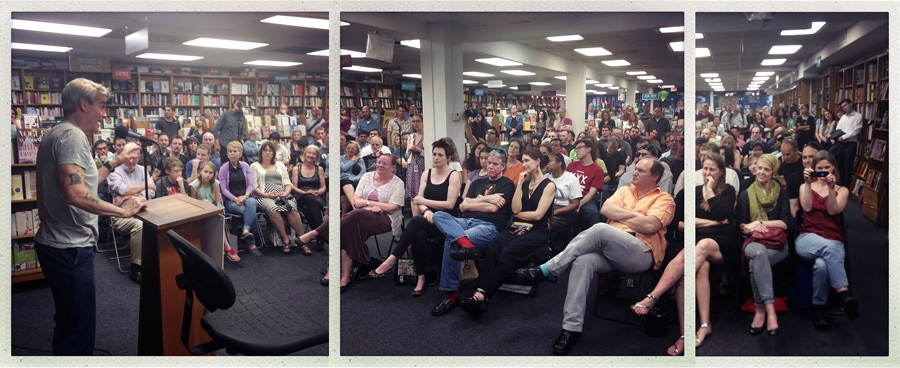 Henry Rollins speaks during Book singing event for HARD ART DC 1979 at Politics and Prose in Washington, DC