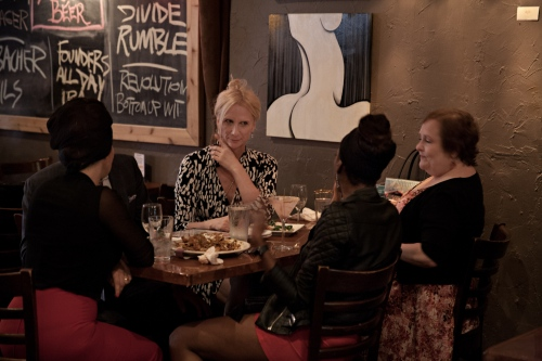Dee feels lucky to be surrounded by friends and family members who understand her choice and acknowledge the inevitability of that choice. She feels at home amongst her close friends at a restaurant before attending a show in a local theater.