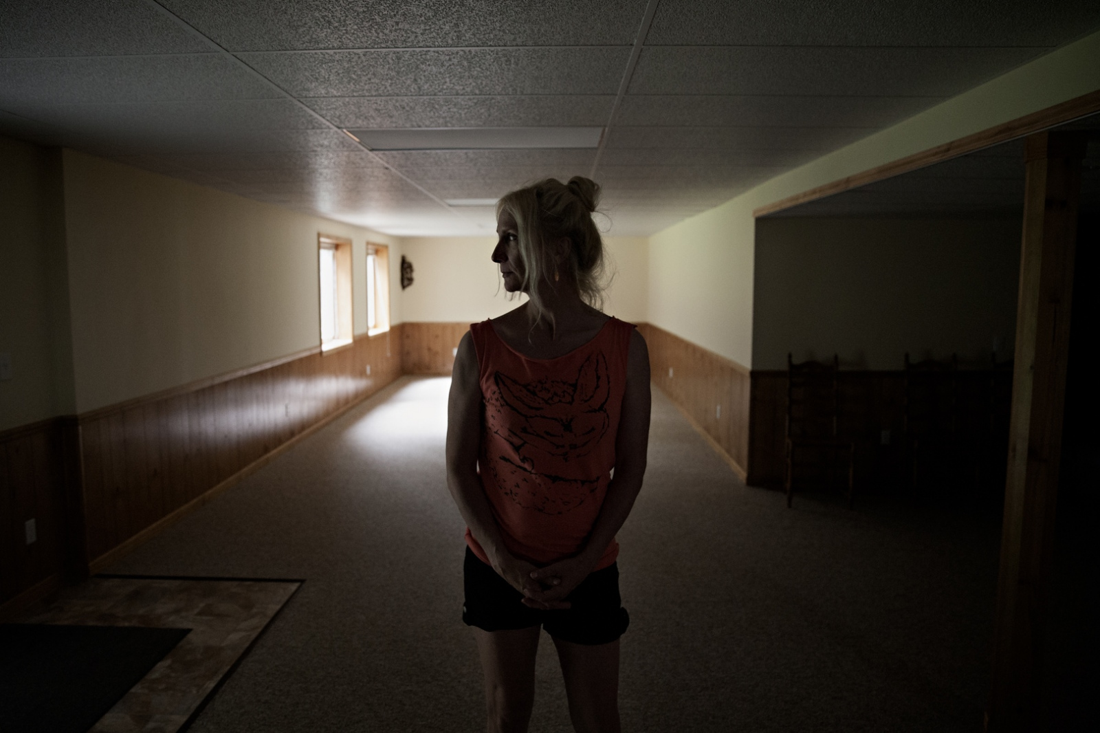 Dee's father lives in a small town in Michigan, and is undergoing a transition of his own and is in the process of selling their home and moving in with his daughter. Their family home basement now sits empty and the house is listed for sale.