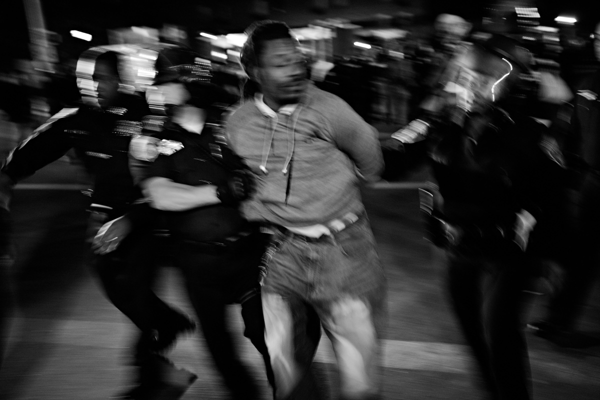 Baltimore md a man was arrested for disorderly conduct by the baltimore police department