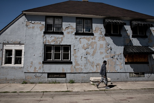 About 25% of the 300 residential homes in Marktown are abandoned and are in various state of disrepair. Left with no alternative means of responding the urban blight, many of the remaining residents have taken it upon themselves to, as they are able, care for these abandoned properties.