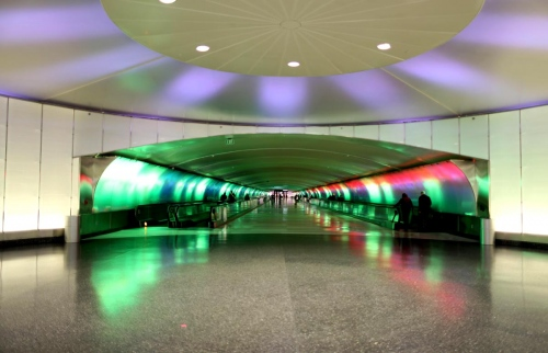 Detroit Metropolitan Wayne County  Airport Project by: Louis G. Redstone Detroit - USA