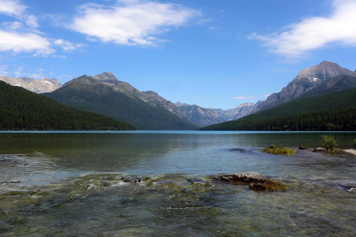 Bowman Lake, there are at least 3,223 named lakes and reservoirs in Montana, including Flathead Lake, the largest natural freshwater lake in the western United States.