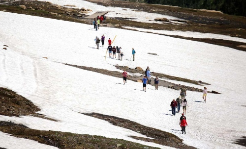 Ice walking is one the highlights to many tourists exploring the Glacier National park in Montana.