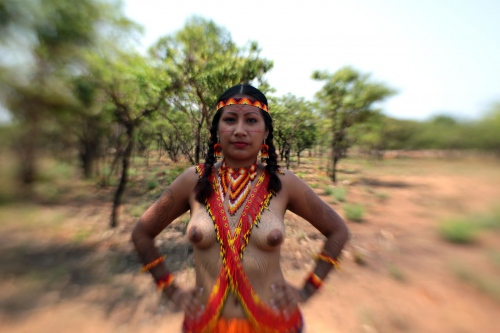 Mélissa Blaise - Kalina - French Guiana  The Kalima, also known as the Caribs or mainland Caribs and several other names, are an indigenous people native to the northern coastal areas of South America and one of six American Indian tribes of French Guiana. Today, the Kalina live largely in villages on the rivers and coasts of Venezuela, Guyana, Suriname, French Guiana and Brazil. They speak Cariban language also known as Carib. They food base is cassava and their traditional meal is kashilipo which is cassava juice with fish, and their traditional drink's the kashiri which is cassava juice with the dye of a sweet potato. The Kalima traditional dance's sampula (drum) and kalawashi (maraca) which is practiced especially for traditional ceremonies.