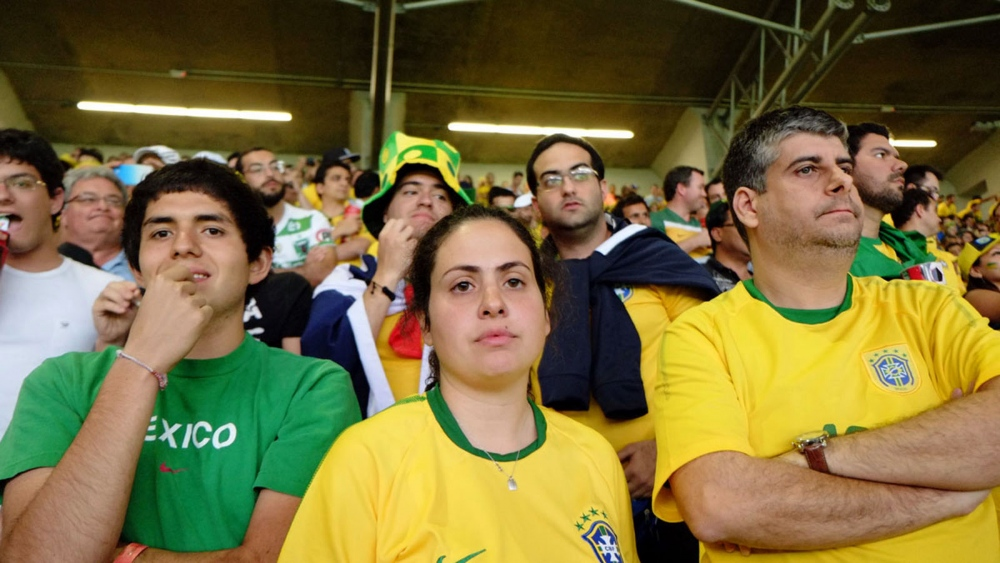 Brazil scored a goal at the last minute, ending the match 7–1.