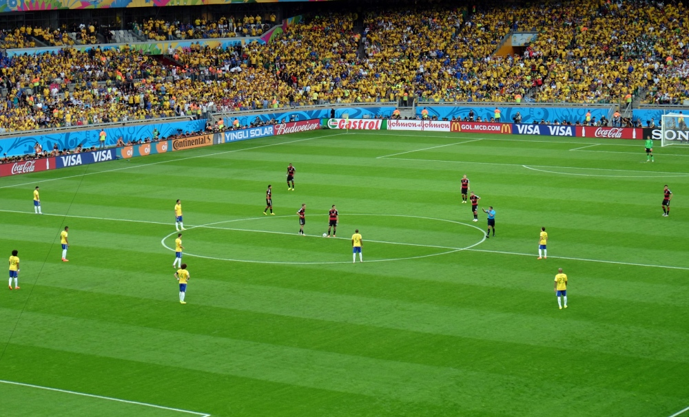 The  Brazil vs Germany  football match that took place on 8 July 2014 at the Estádio Mineirão in Belo Horizonte, Brazil, was the first semi-final match of the 2014 FIFA World Cup.