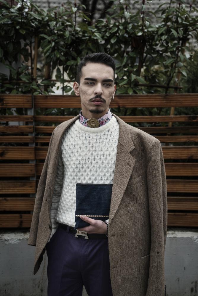 Kosova, Pristina, 2016: Egzon Kazagiqi, 20, fashion designer.