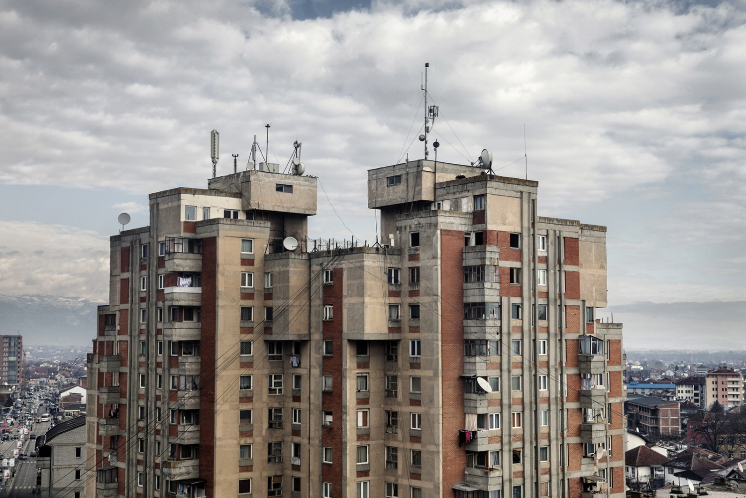 Kosova: Peje, 2012: Vision of Peje city centre.