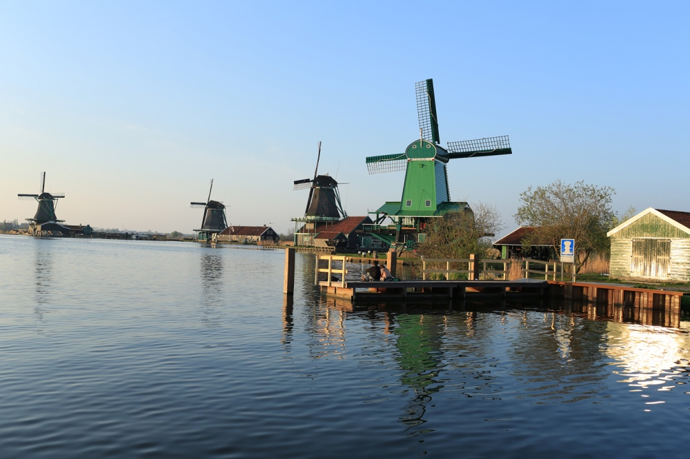 Zaanse Schans is a fully inhabited, open-air conservation area and museum located just a few miles north of Amsterdam.