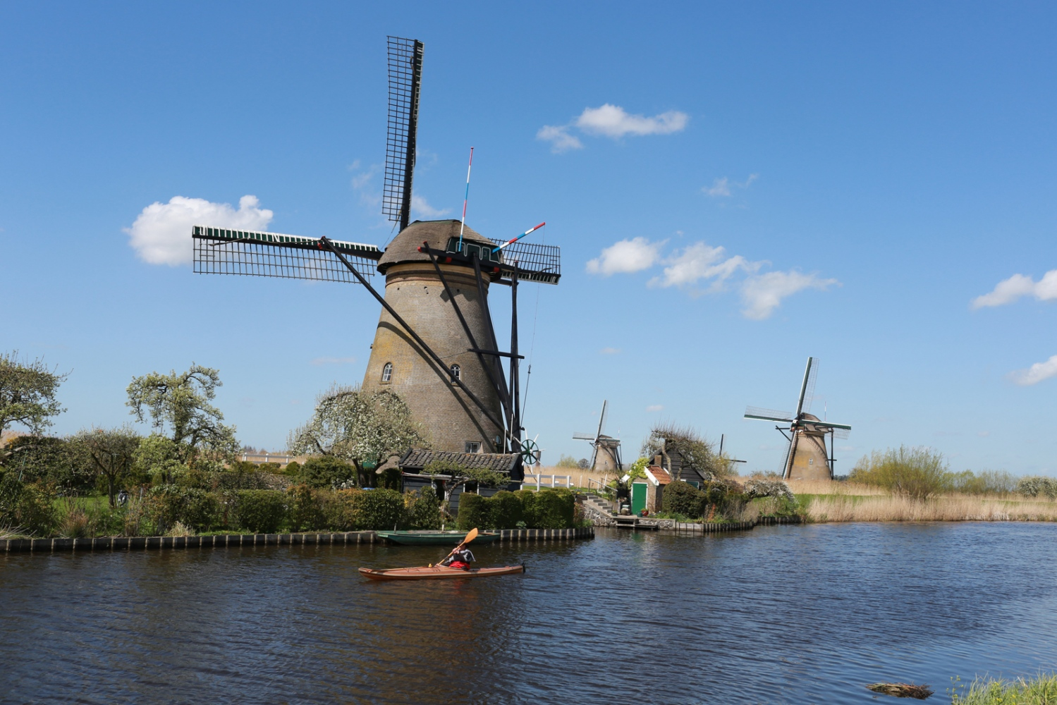 Kinderdijk the most famous group of polder mills and World Heritage listed.