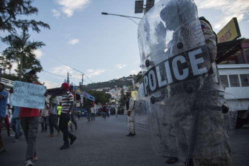 Four years of protest against a Haitian president