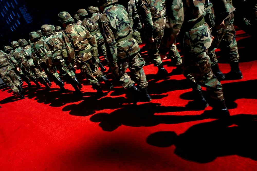 Soliders on Red Carpet,  2001