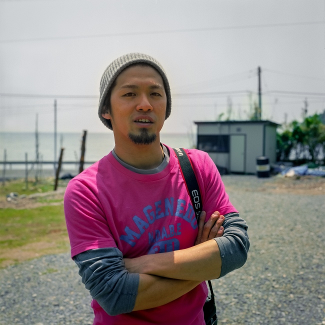 Miyagi Ryodai takes a moment to show me around the village.