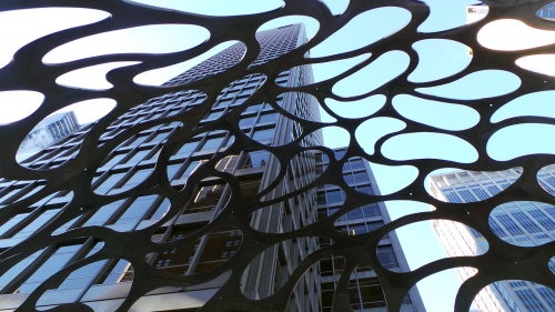1330 Avenue of the Americas - Sculpture Seed54 Project by: Haresh Lalvani New York - USA