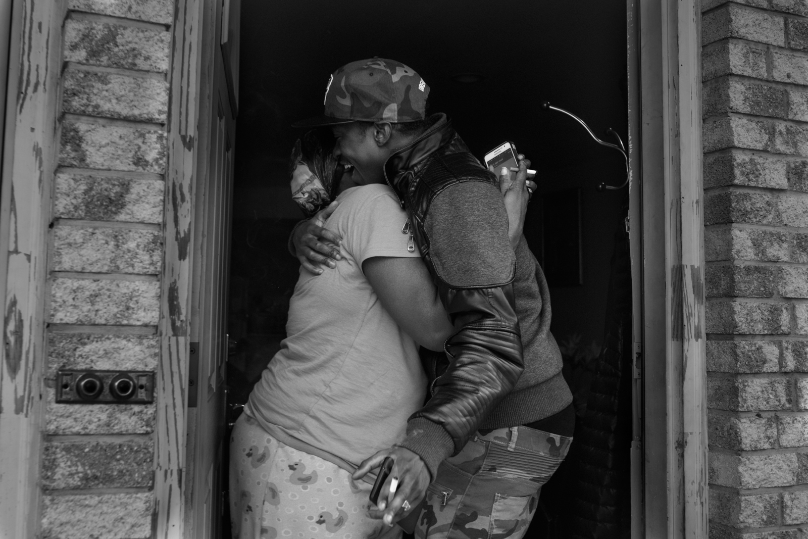 Two days after getting released from Rikers Island, Carl Kelly gets reunited with his mom at her house inFar Rockaway.His mother did not know where he was while he was imprisoned as the department of corrections wouldnot give her any information.April 21st, 2016.