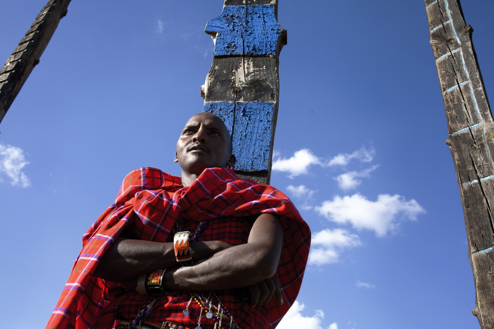 Nairobi, KENYA, October 31, 2014: Michael Pesi, a Maasai warrior poses for a portrait during the UNEP development conference at UN headquaters in Nairobi.