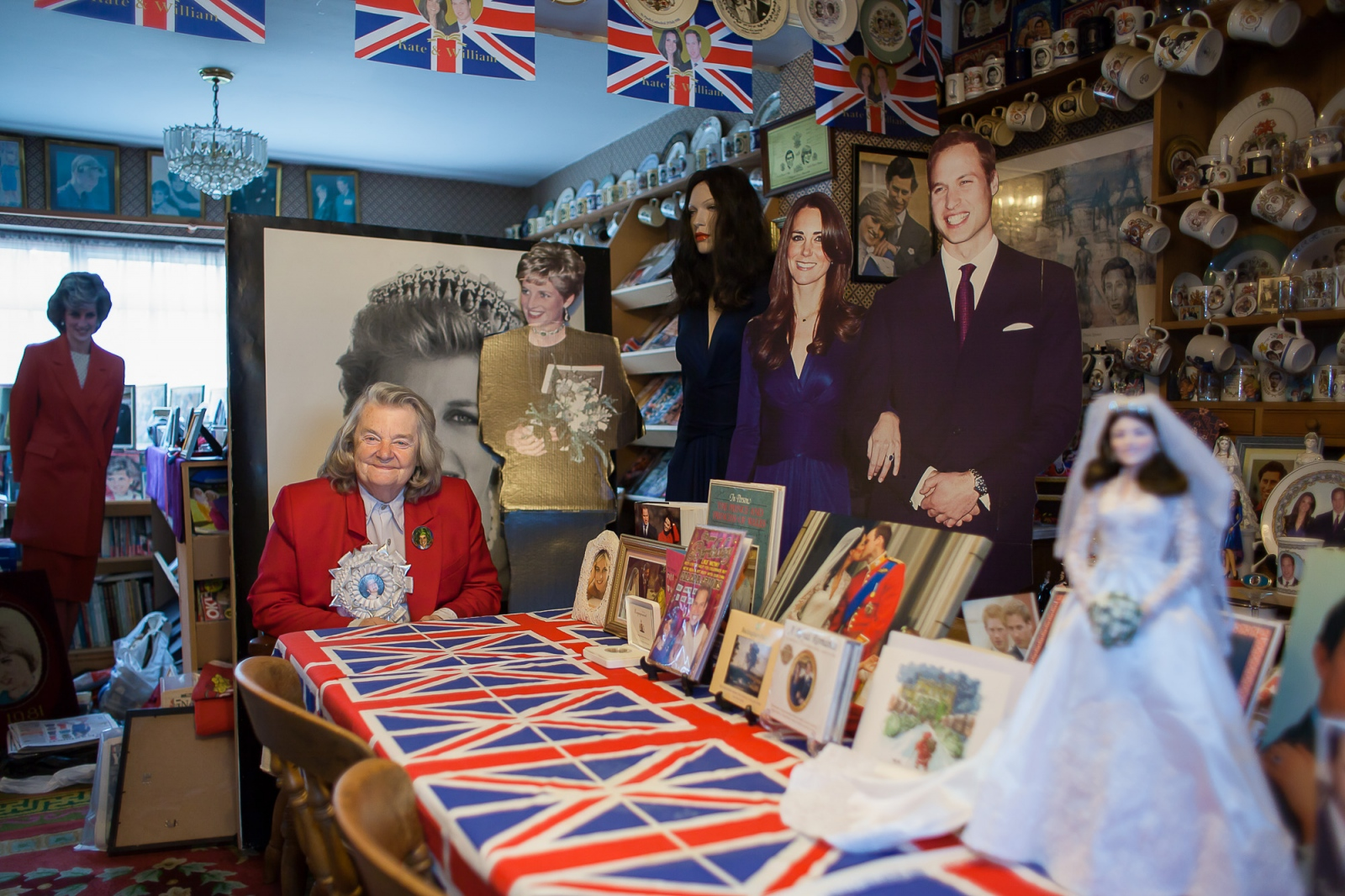 Wembley, UK, October 8, 2012: Mrs Margaret Tyler has collected about 10.000 items over the past 30 years, making her royal memorabilia collection the biggest in England.