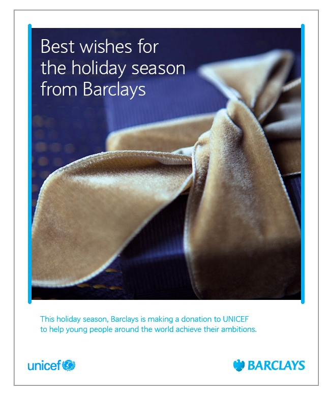 Barclays worldwide Christmas image, 2014