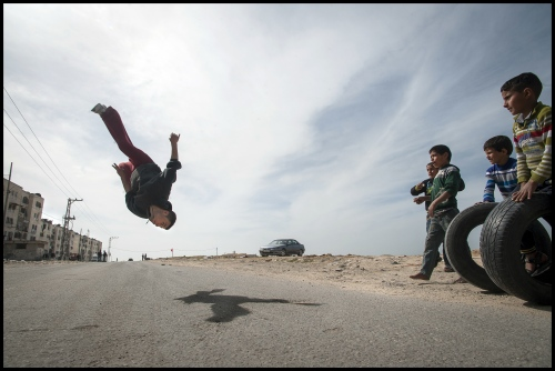 Uday Ajrami of '3 Run Gaza' at  Beit Hanoun, Northern Gaza Strip.
