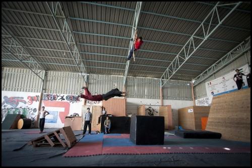 '3 Run Gaza' in training at their base in Beit Hanoun, Gaza Strip.