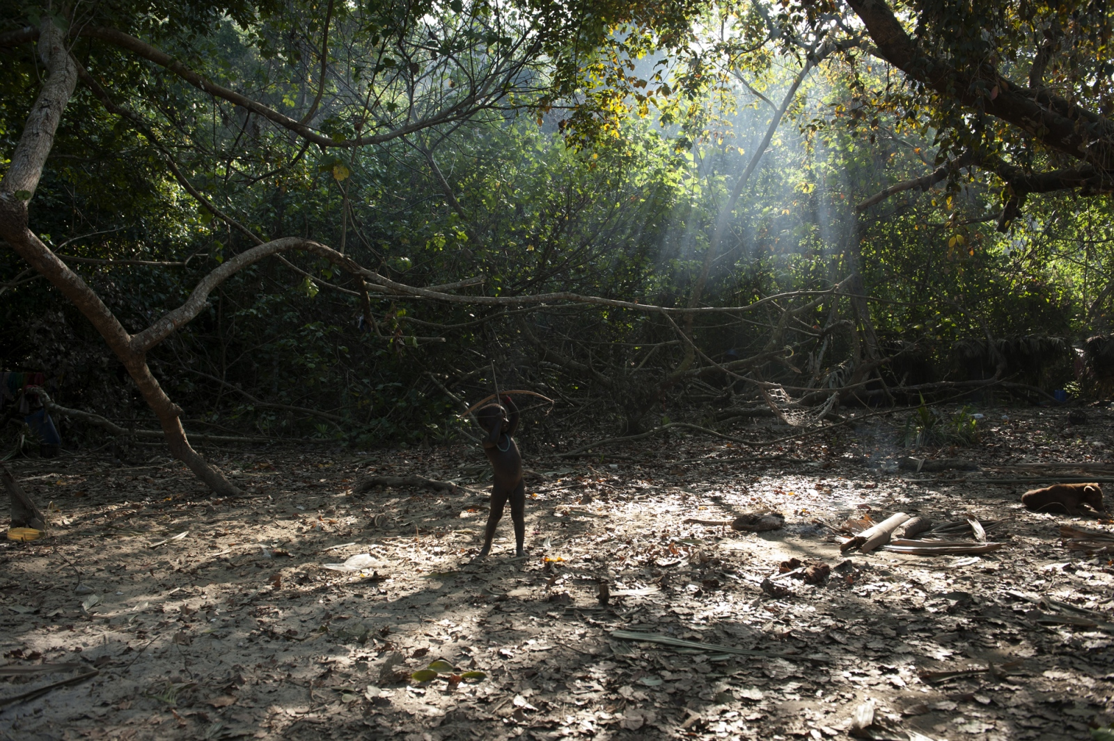Art and Documentary Photography - Loading jarawa_beilvert_child_playing_with_a_bow.jpg