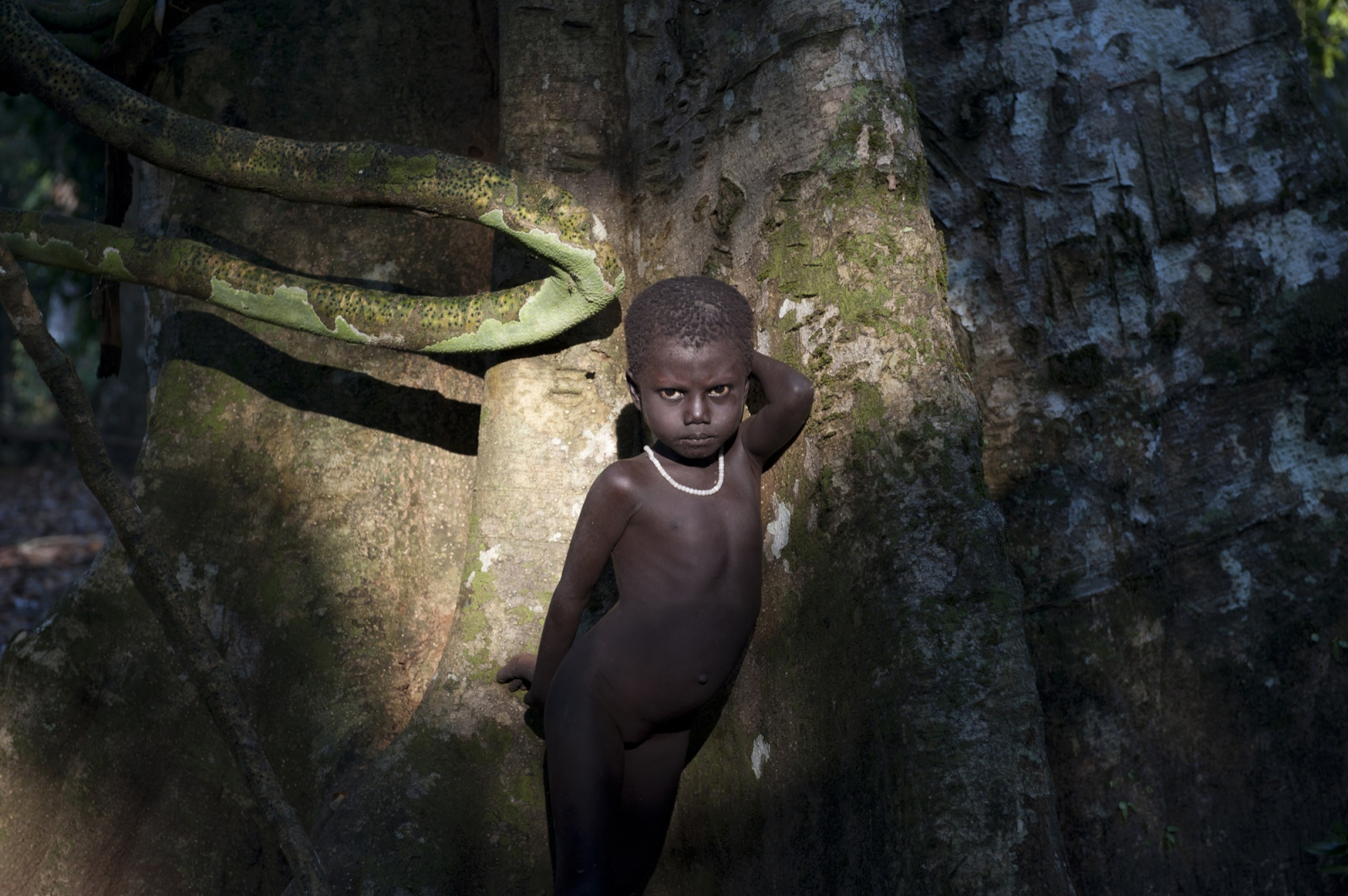 Art and Documentary Photography - Loading jarawa_beilvert_girl_standing_near_a_tree.jpg