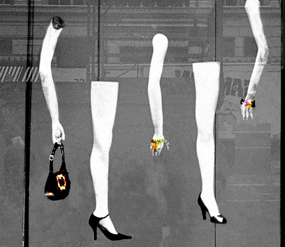 Photography image - Loading arms_and_legs_in_saks_windo_b_w.jpg