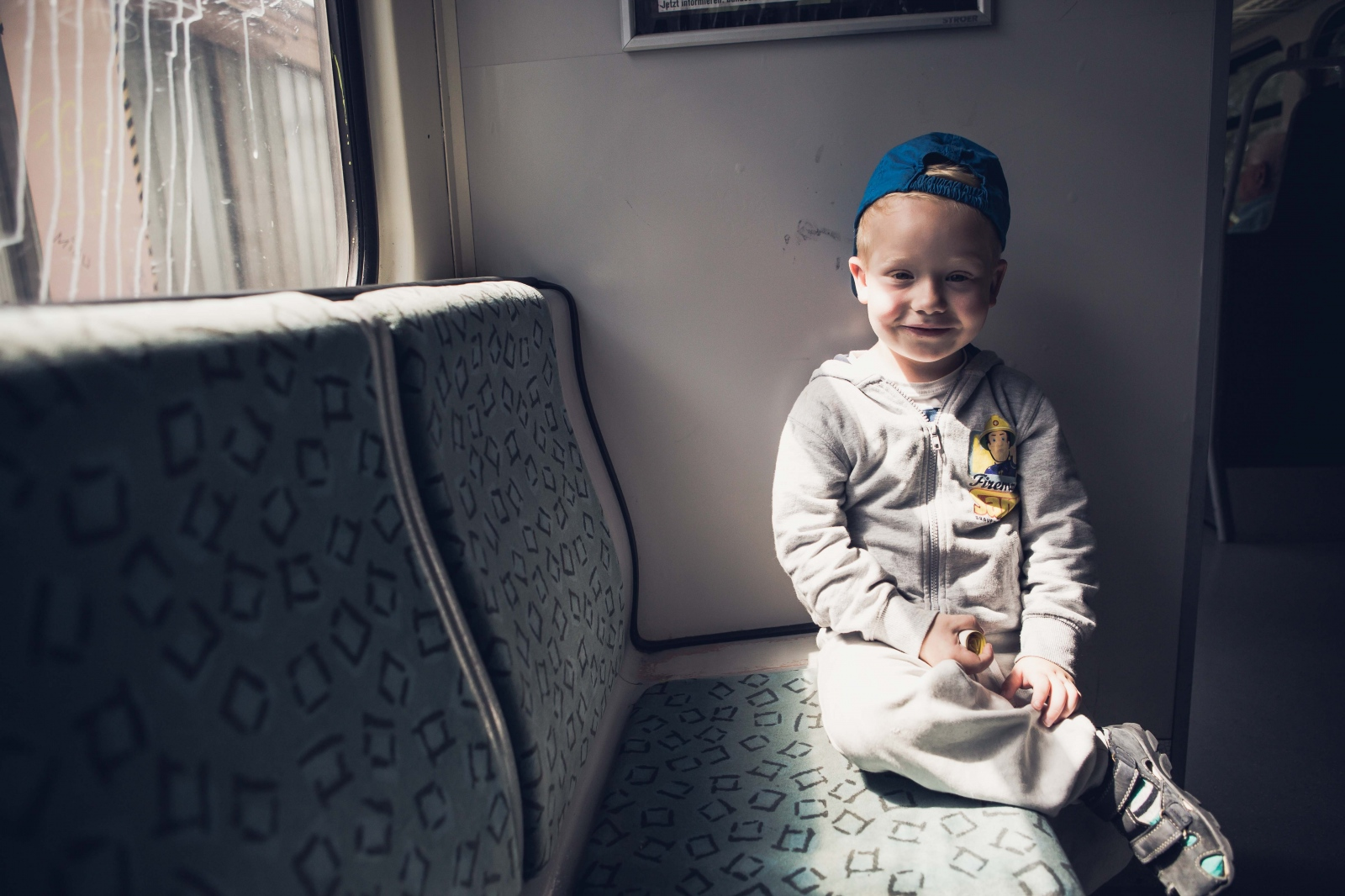 Oskar B., 4, rides the subway during a day of running errands with his mother. Claudia had been married to her abusive, drug addict husband and father of her youngest son, Oskar, for almost ten years when she finally decided to leave him in April 2016. She has since found a new home, where she lives with her three sons, as well as finding a new job.