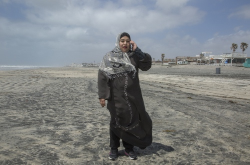 Fatima Castañeda at the beach in Rosarito, Mexico, her hometown.