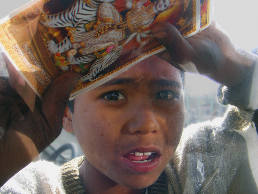 Glue is the drug of choice for the estimated four hundred children who sleep on the streets of Katmandu.