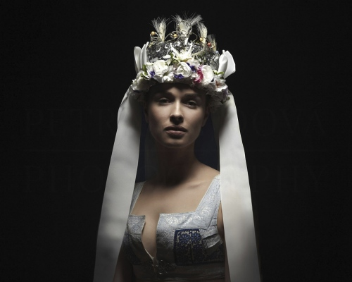 parta I bridal headband  Torysky Spiš      Photo Rag® Baryta, Hahnemühle 315g, limited edition     80 x 100 cm  of 23+2AP     40 x 50 cm of 48+2AP     20 x 25cm of 198+2AP      signed, dated and numbered, with a Certificate of authenticity