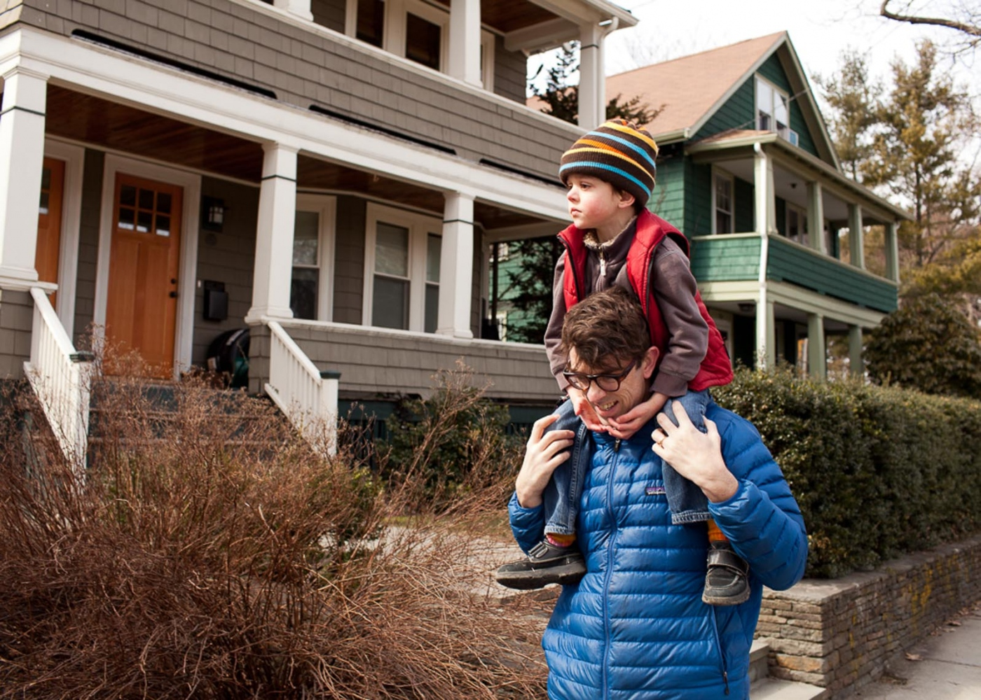 Jeff Howe carries his 5 year old son Finn home from the park. Finn is severely autistic and the cost of his care has forced Howe and his family to make tough choices.  For Money Magazine