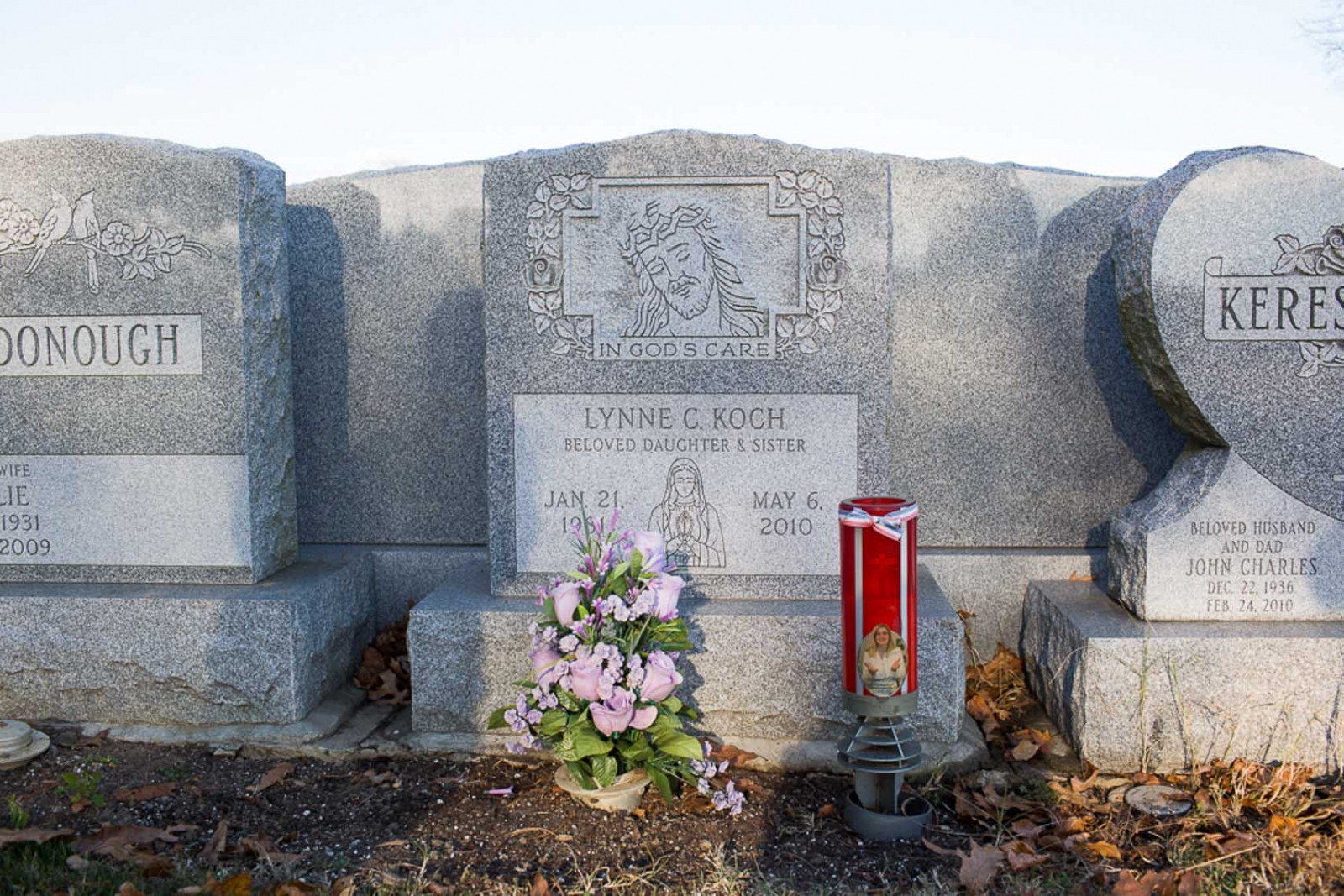 "Lynne Kochs grave at Holy Cross Burial Park. ""As a parent, its your job to protect your children. You do everything you can. We couldnt protect Steven in a dangerous place. And Lynne, we tried to reach her. She was just too lost without Steven."" For CNN Digital"