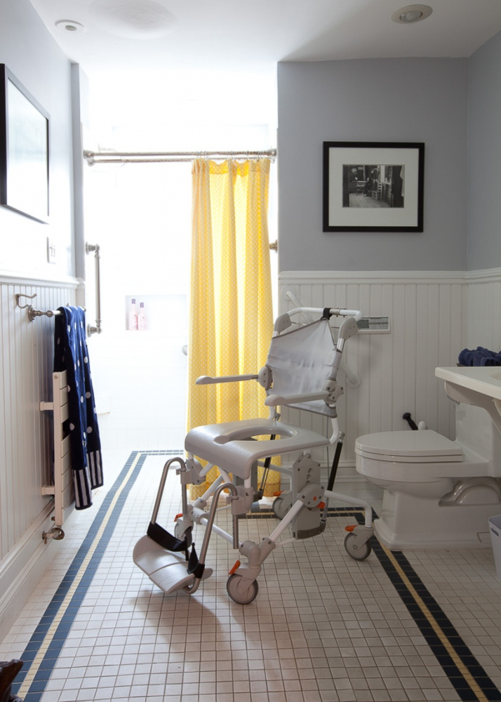 Steve and Pam had the bathroom renovated so that he could be wheeled into the shower. For Money Magazine