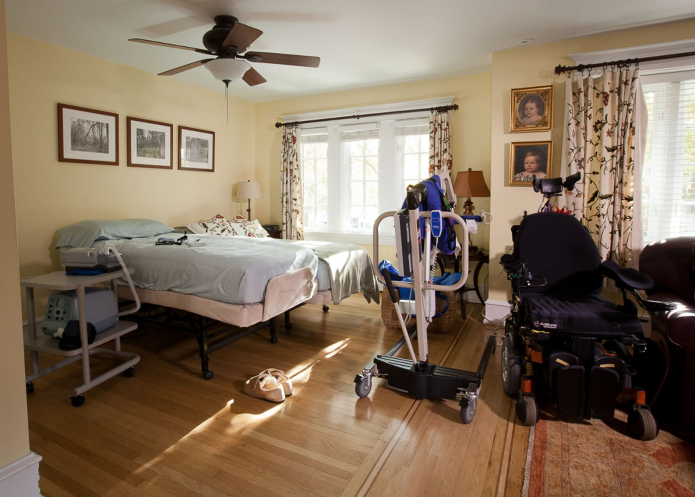 Steve and Pam have spent thousands of dollars on medical equipment including a hospital bed, wheelchair, lift and elevator. House renovations cost the couple over $50,000 to make it wheelchair accessible. For Money Magazine