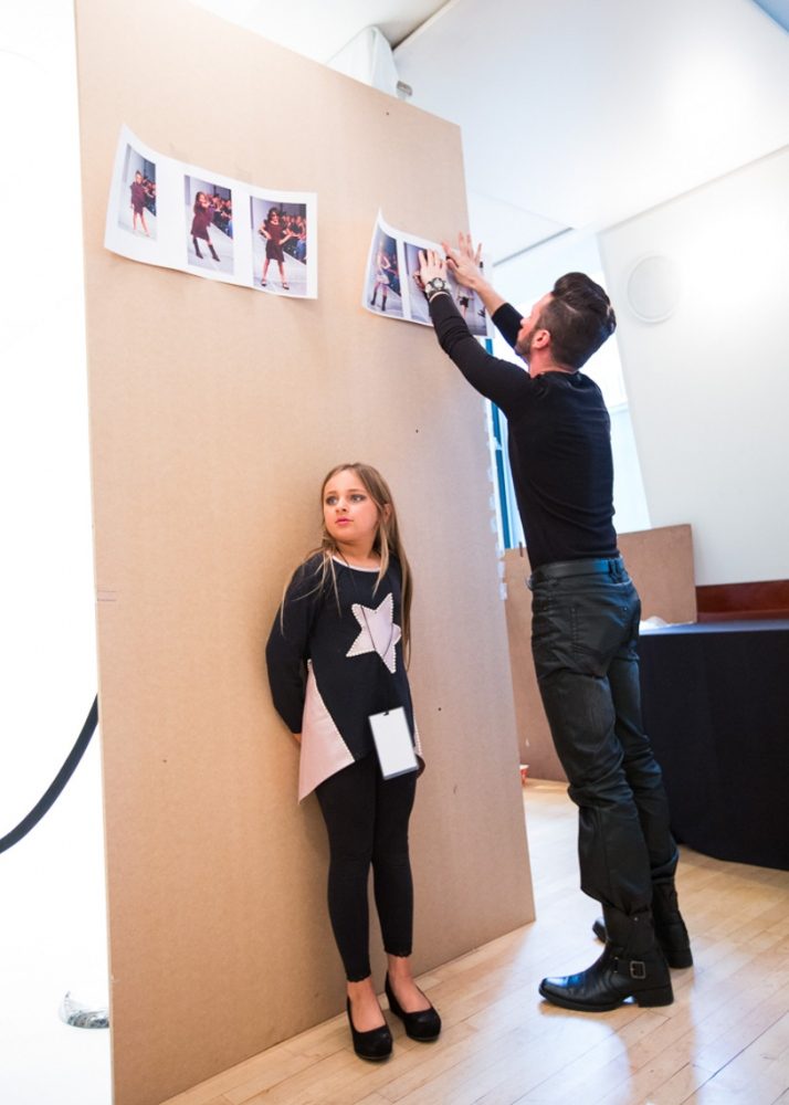 Isabella backstage for the debut of her clothing line Bound by the Crown at New York Fashion Week For Nido Magazine