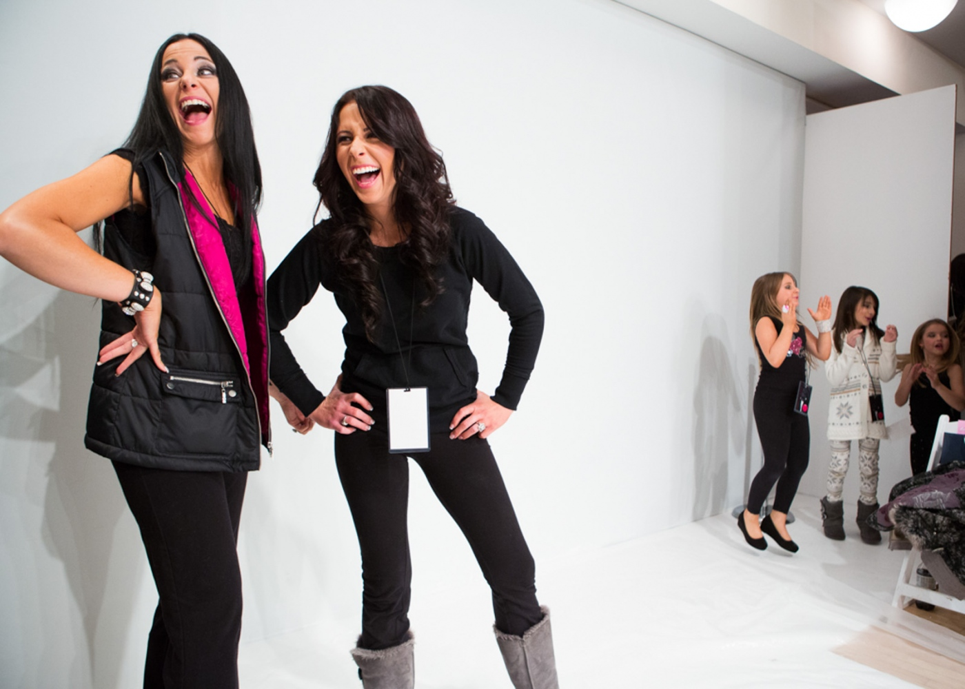 Isabellas mother and sister show the girls how to walk the runway at New York Fashion Week For Nido Magazine