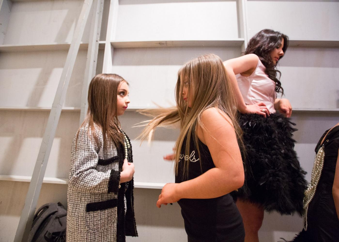 Isabella backstage at New York Fashion Week For Nido Magazine