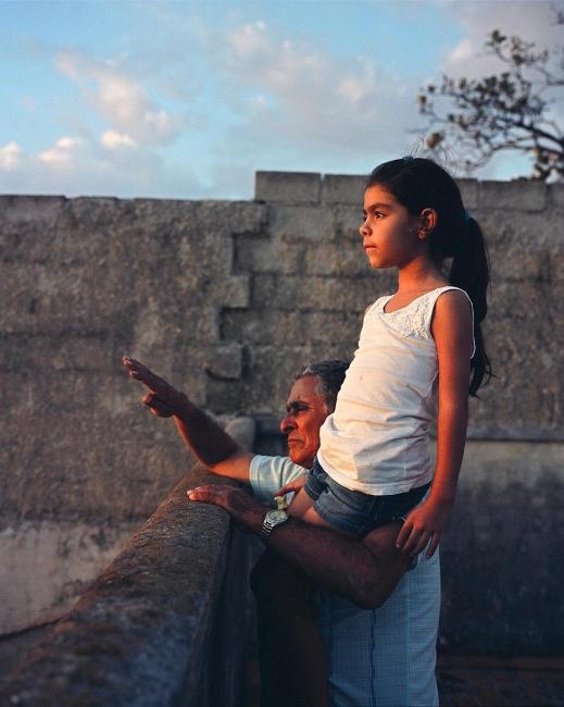 Javier and Melanie watch the sunset, Havana, Cuba, 2010