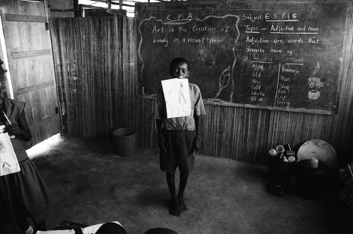 Osman's drawing, Goderich Waldorf School Freetown, Sierra Leone, 2006