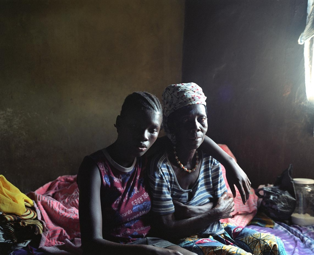 Fatmata with her grandmother Freetown, Sierra Leone, 2006