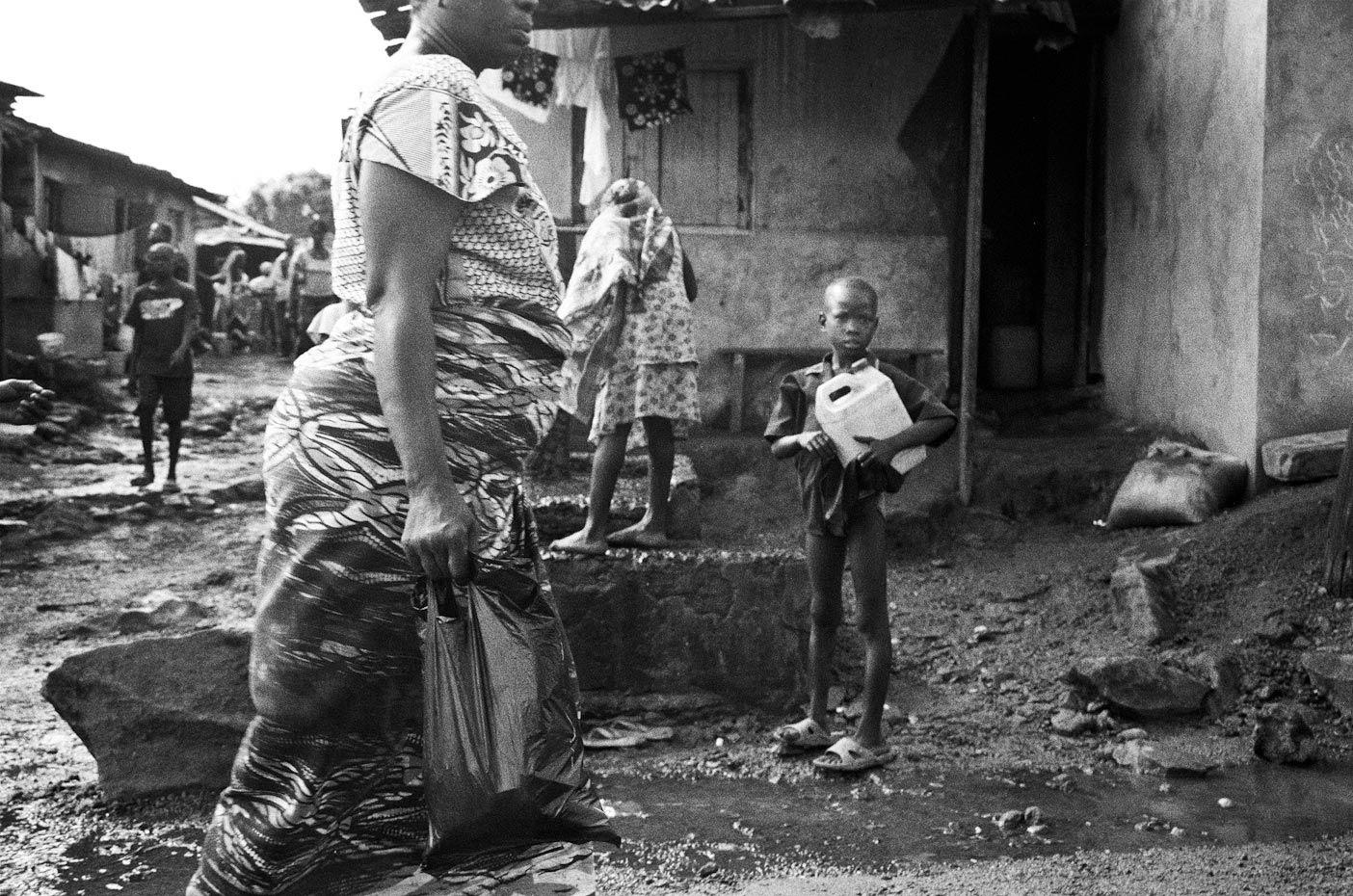Collecting Water, Goderich Village Freetown, Sierra Leone, 2006