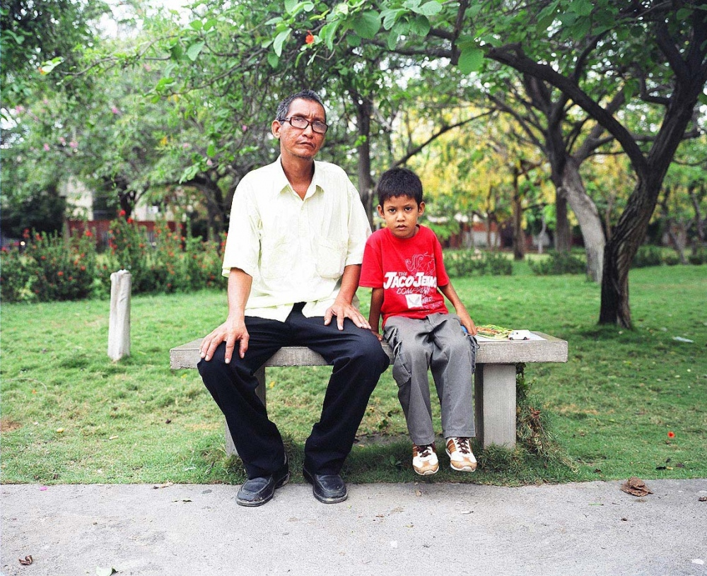 Carlos Jose with his father Santa Marta, Colombia, 2010  Carlos Jose, age six, is the youngest of four generations of men who were born with a cleft palate. Although he was unable to have surgery during the 2010 mission, he and his father worked with speech therapists Helen Buhler and Etoile LeBlanc to learn pronunciation exercises that he can practice until the next mission. Speech therapy is an important part of treatment for cleft palate patients, who are often unable to articulate certain sounds and speak with a hypernasal voice. Doing exercises before and after surgery leads to a better outcome in terms of speech and communication. Carlos' father never had surgery and therefore continues to have problems with language and articulation. Carlos worries about getting surgery, because he doesn't want to sound different than his father.    For Healing the Children Northeast