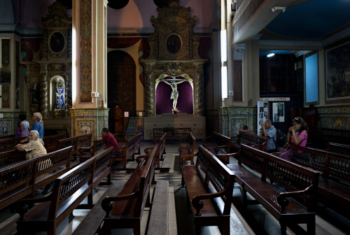 All three major religious faiths (Christianity, Judaism and Islam) are represented in Cuba. Catholic Churches like this one are present and generally well attended.